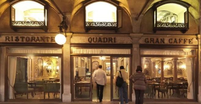 Tre caffè in Piazza San Marco a Venezia