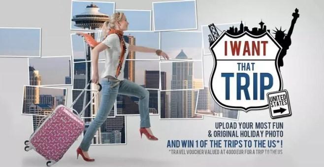 I want that trip, gioca e vinci un viaggio negli USA