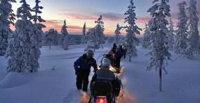 Lapponia fai-da-te in Inverno, volo, treno e alloggio