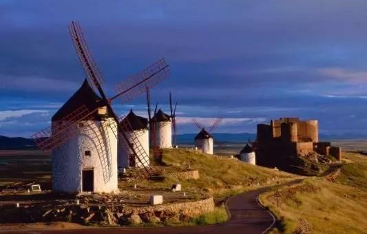 La Mancia, Consuegra e i mulini a vento di Don Chisciotte