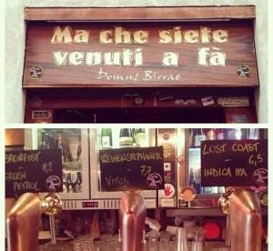 Ma che siete venuti a fa' a Roma, una birra a Trastevere