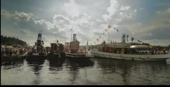 Con il battello a vapore sul lago Saimaa, in Finlandia