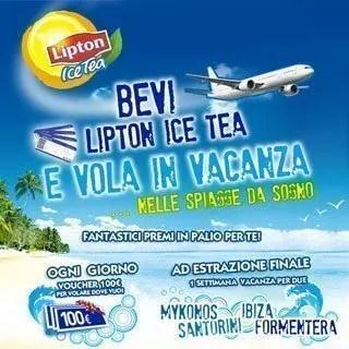 Con Lipton Ice Tea vinci Mykonos, Formentera, Santorini e Ibiza