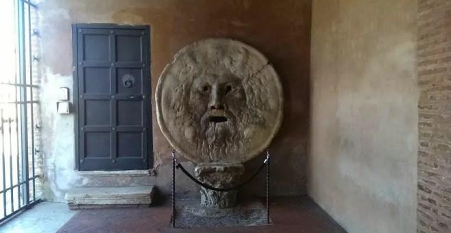 Bocca della Verità a Roma, dove si trova
