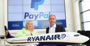 Voli Ryanair, paga con Paypal