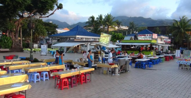 Tahiti, mangiare low cost a Les Roulottes