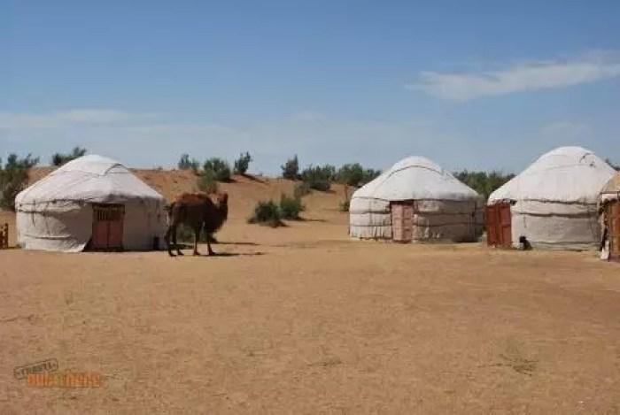 Ayaz-Kala yurta camp