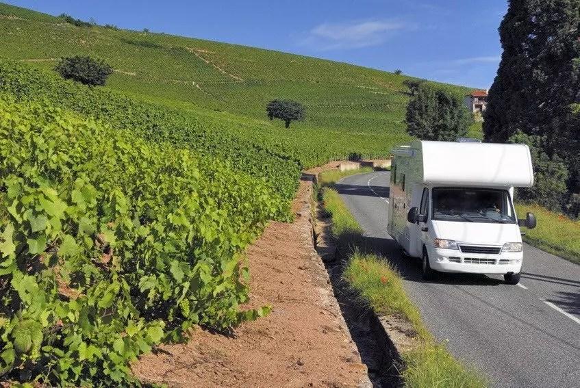 Caravan on its way in France