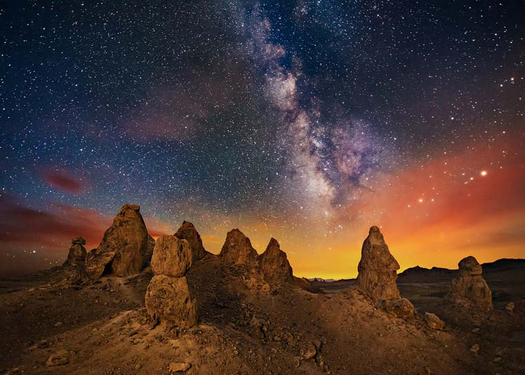 Trona Pinnacles un paesaggio di fantascienza nel deserto della California