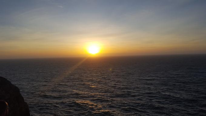 il romantico tramonto a cabo sao vicente a sagres