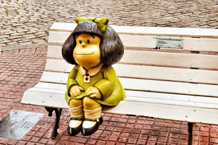 mafalda: la regina del paseo de la historieta