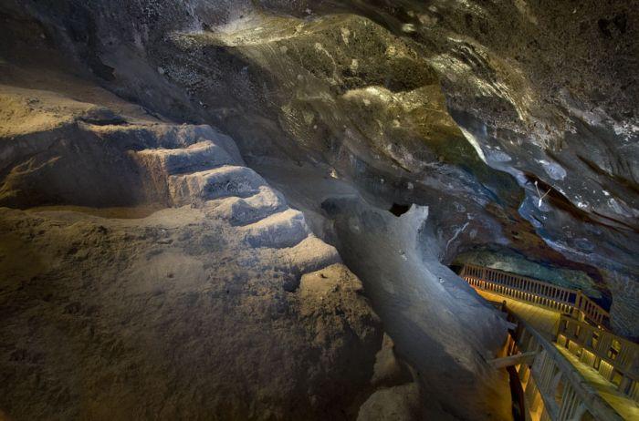le rocce della miniera di sale di wieliczka