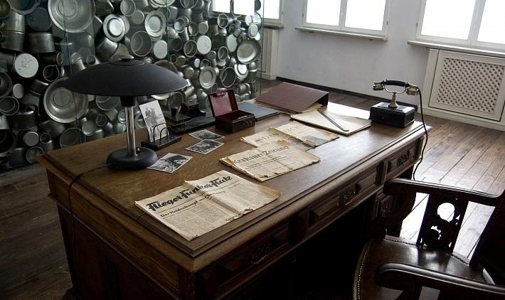 ufficio di oskar schindler nella fabbrica-museo a cracovia in polonia