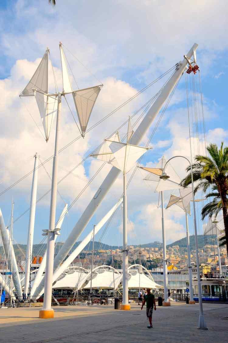 le vele del porto antico di genova