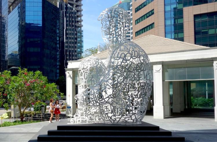 scultura soul dell'artista Jaume Plensa