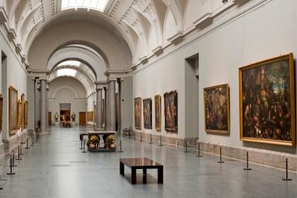 prima parte della galleria centrale del museo del prado