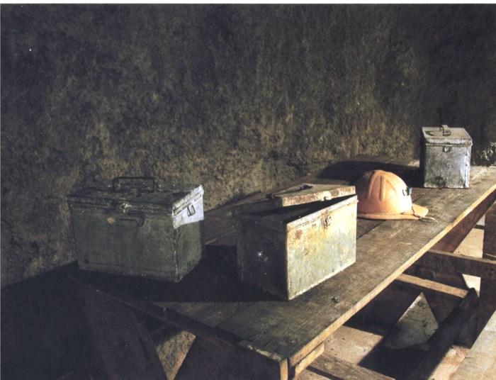 Le panierine dei minatori nel Museo della Miniera di Massa Marittima