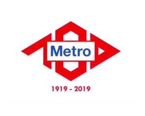 logo per i 100 anni di metro madrid