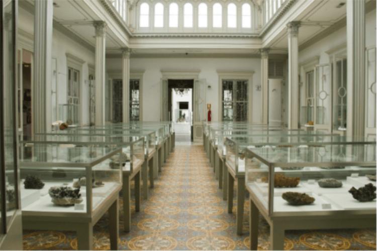 una sala del museo dei minerali andrés del castillo