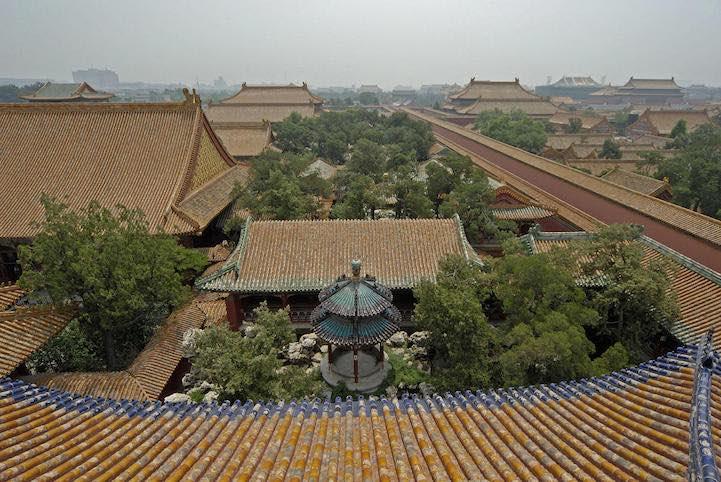 il giardino segreto della città proibita di pechino visto dall'alto
