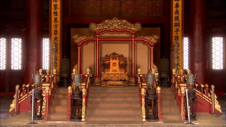 il Trono del Drago nella Città Proibita di Pechino