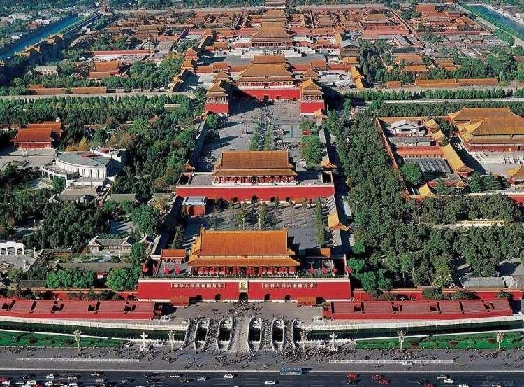 vista aerea della Città Proibita di Pechino