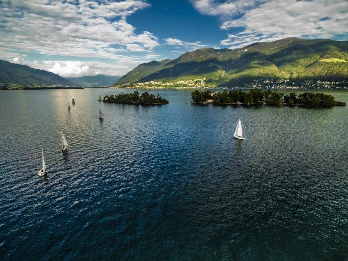 le isole di Brisaggio nel Canton Ticino in Svizzera