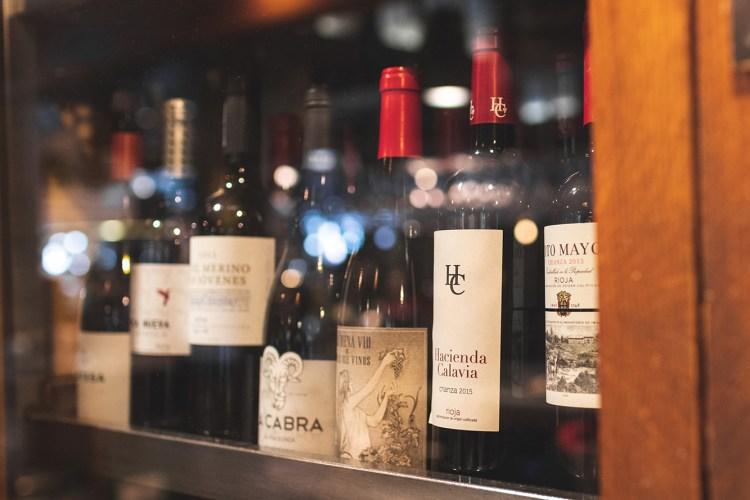 le etichette di Pinkleton & Wine al Mercado de San Miguel
