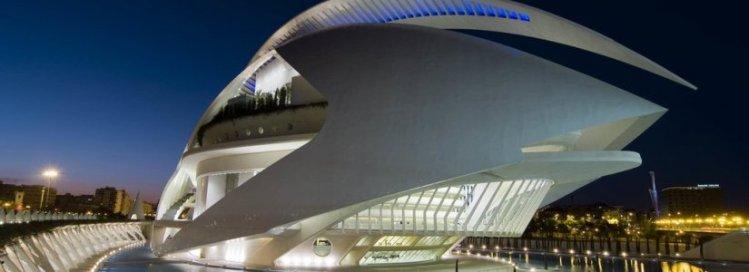 Il Palau de les Arts nella Ciudad de las Artes y las Ciencias