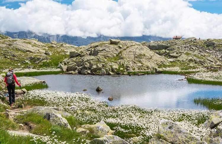 panorama vicino alle cascatelle di ziano di fiemme