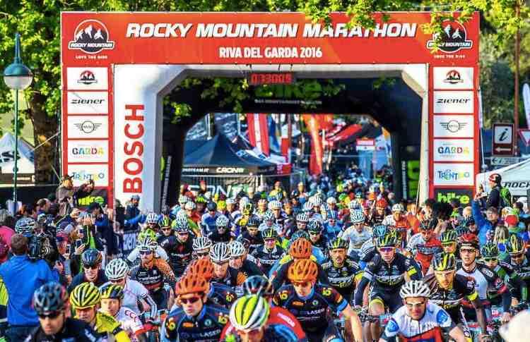 la partenza della rocky mountain marathon