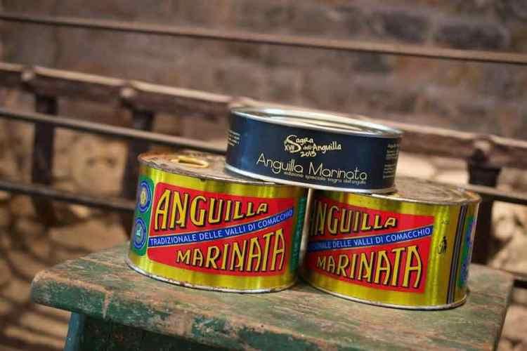 latte di anguille marinate tradizionali delle valli di comacchio
