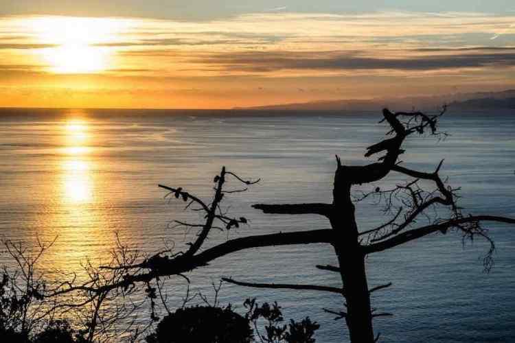 un tramonto dal Monte Portofino
