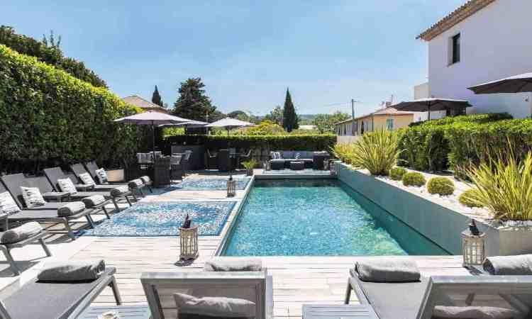piscina dell'hotel le mandla uno dei migliori hotel a saint tropez