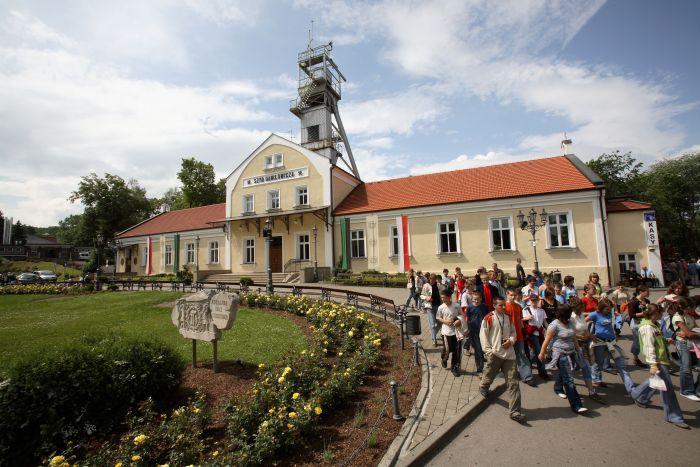 L'ingresso alla miniera di sale di Wieliczka a pochi chilometri da Cracovia