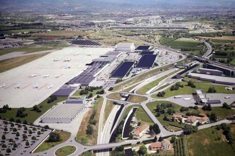 panoramica aerea aeroporto verona