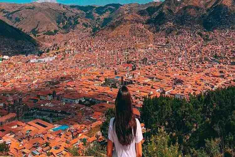 vista di cuzco dal mirador de santa ana