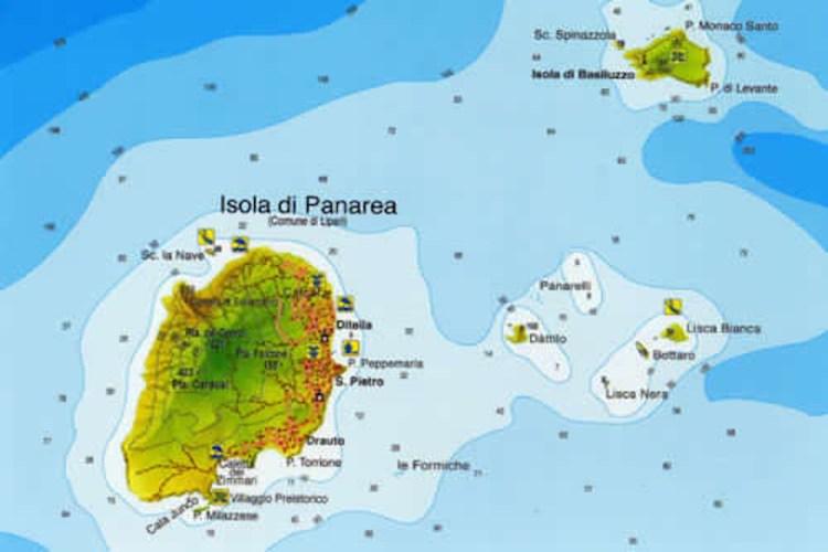 mappa marina di panarea isole eolie