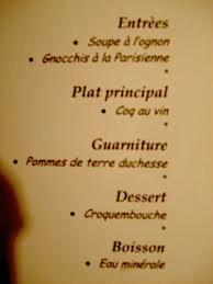 Come leggere un men francese  Viaggiamo