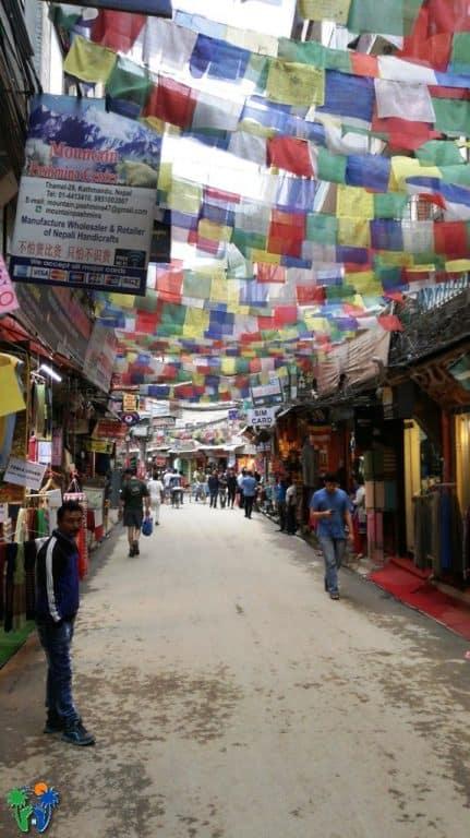 Via del quartiere Thamel a Kathmandu