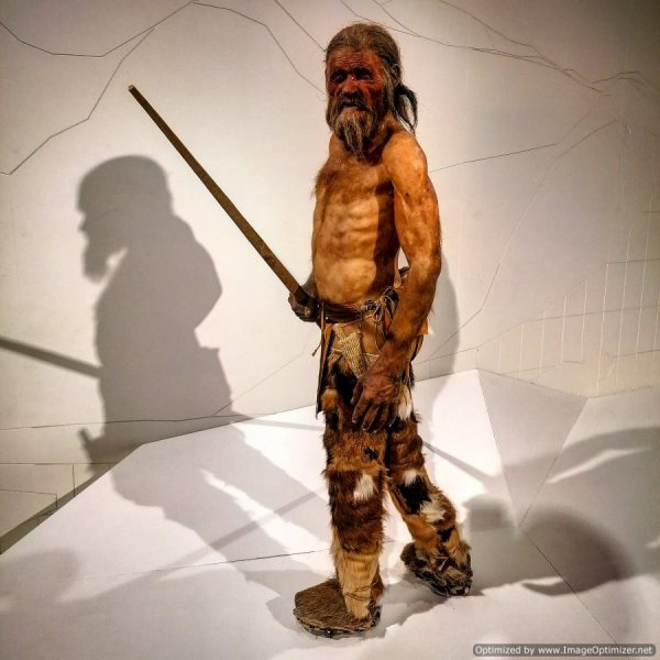 Ricostruzione delle sempianze di Ötzi