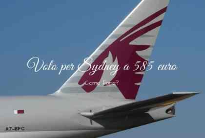 Come trovare il volo per Sydney a 585€?