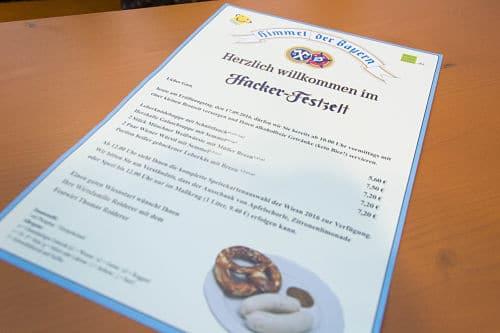 Il menù dell'Oktoberfest prima di mezzogiorno