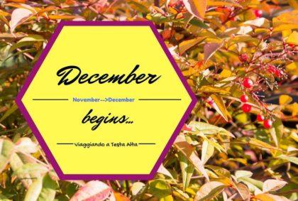 December begins… Novembre -> Dicembre