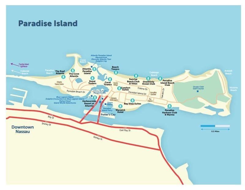 Mappa di Paradise Island
