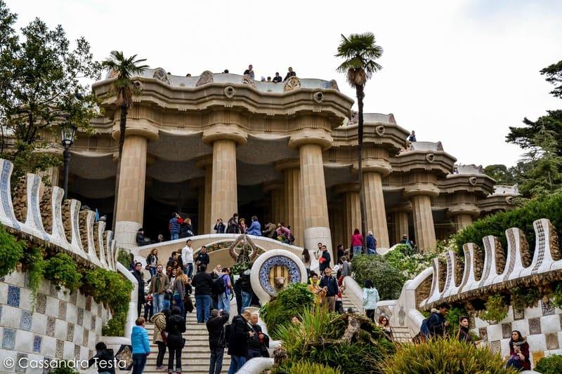 La scalinata del dragone, Barcellona
