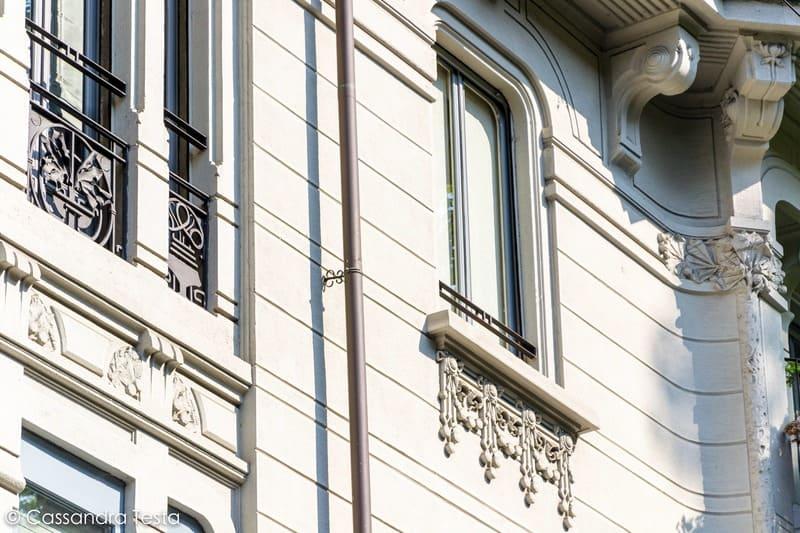 Dettagli di Casa Tensi, Milano