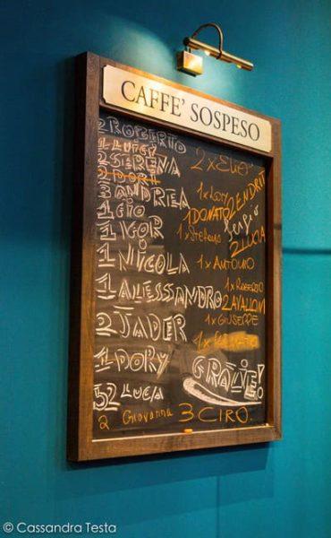 Caffè sospeso, Caffè Napoli - Milano