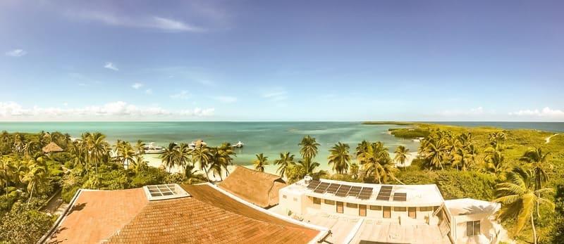 Panorama esteso dalla Torretta di Isla Contoy