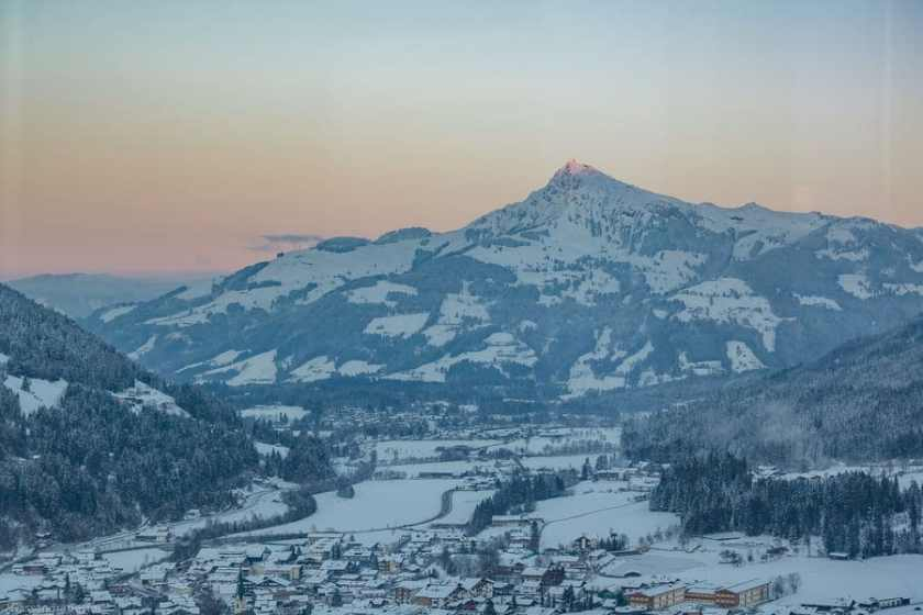 Kirchberg In Tirol al tramonto